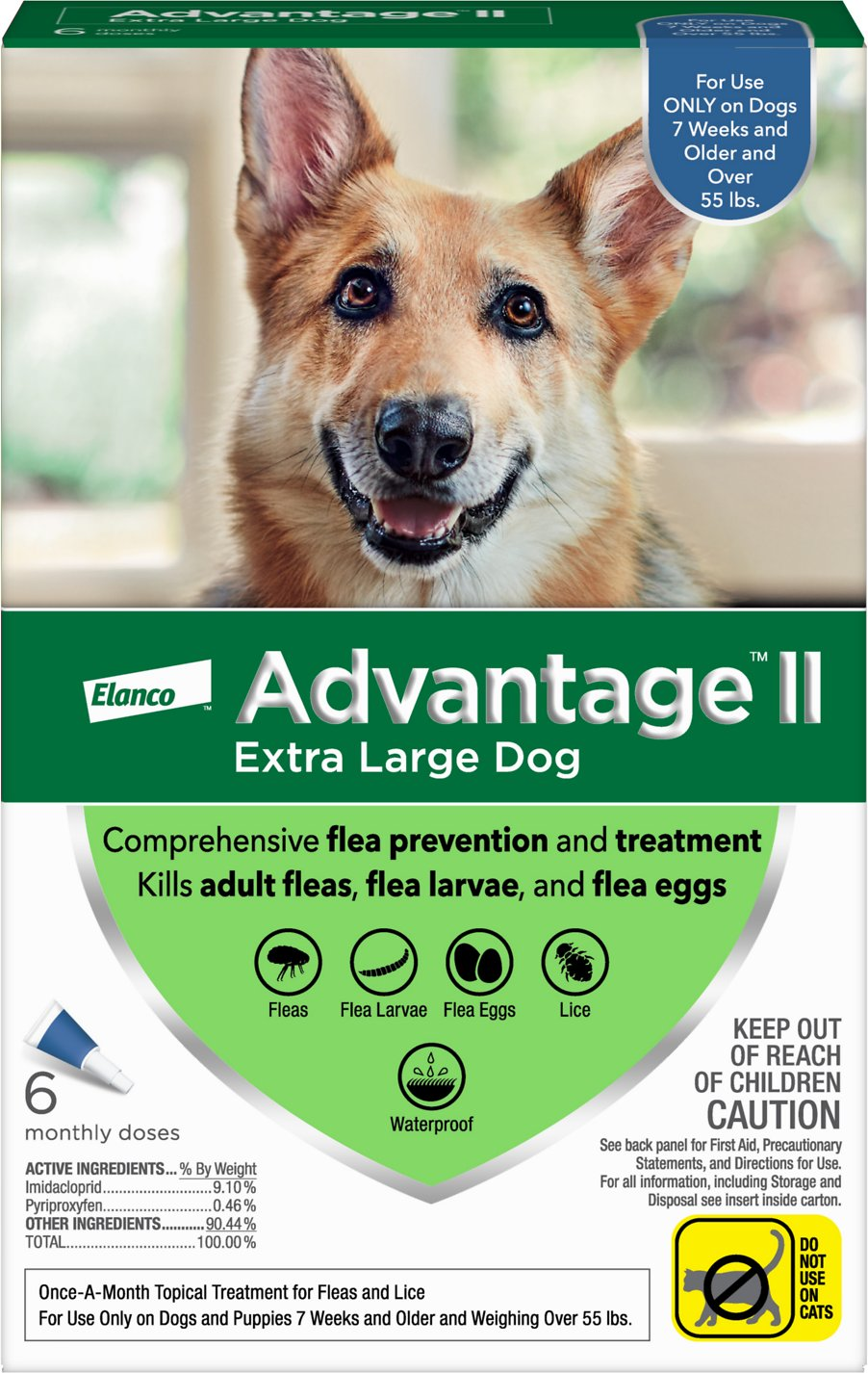 Advantage Ii Flea Treatment For Extra Large Dogs Over 55 Lbs 6