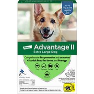 Advantage II Flea Treatment for Extra Large Dogs, over 55 lbs, 6 treatments