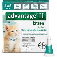 Advantage II Flea Treatment for Kittens 2-5 lbs, 4 treatments