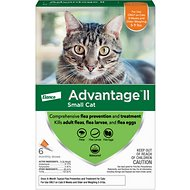 Advantage II Flea Treatment for Small Cats 5 lbs to 9 lbs & Ferrets, 6 treatments