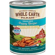 Whole Earth Farms Grain-Free Puppy Recipe Canned Dog Food, 12.7-oz, case of 12