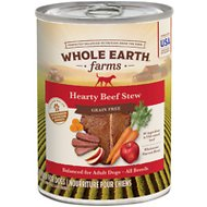 Whole Earth Farms Grain-Free Hearty Beef Stew Canned Dog Food, 12.7-oz, case of 12