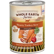 Whole Earth Farms Grain-Free Hearty Turkey Stew Canned Dog Food, 12.7-oz, case of 12
