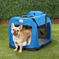 GoPetClub Soft Portable Pet Carrier, Blue, 28-in