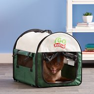 GoPetClub Soft Portable Pet Home, Green, 18-in