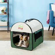 GoPetClub Soft Portable Pet Home, Green, 24-in