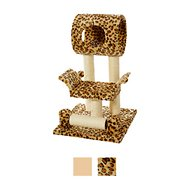 GoPetClub 28-in Cat Tree, Leopard