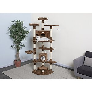 Go Pet Club 80-in Faux Fur Cat Tree & Condo