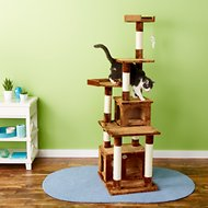 GoPetClub 67-in Cat Tree, Brown