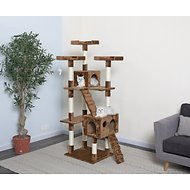 GoPetClub 72-in Cat Tree, Brown