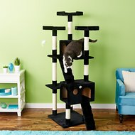 GoPetClub 72-in Cat Tree, Black