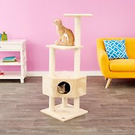 GoPetClub 51-in Cat Tree, Beige