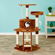 GoPetClub 48-in Cat Tree, Brown