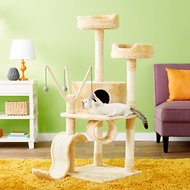 GoPetClub 55-in Cat Tree, Beige