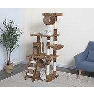 GoPetClub 62-in Cat Tree, Brown