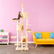 GoPetClub 106-in Cat Tree, Beige