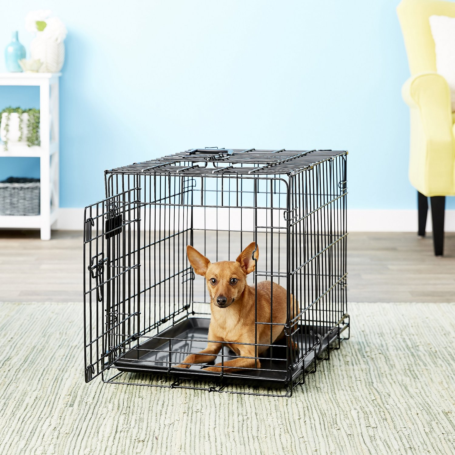 Precision pet products great crate double door dog crate for Double door with dog door