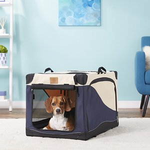 Precision Pet Products 4-Door Collapsible Soft-Sided Dog Crate