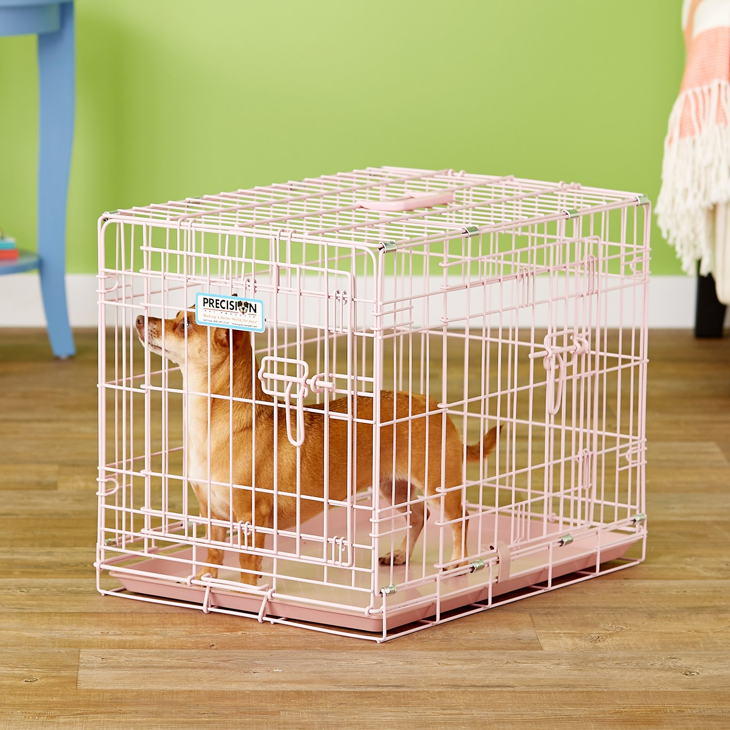Precision Pet Products Snoozzy Baby Wire Crate, Pink