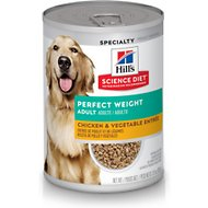 Hill's Science Diet Adult Perfect Weight Chicken & Vegetables Entree Canned Dog Food, 12.8-oz, case of 12