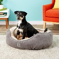 Precision Pet Products Gusset Daydreamer Bolster Cat & Dog Bed, Grey