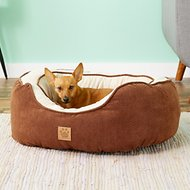 Precision Pet Products Chevron Chenille Gusset Daydreamer Pet Bed, Chocolate, Medium