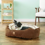 Precision Pet Products Gusset Daydreamer Bolster Cat & Dog Bed, Chocolate