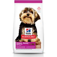 Hill's Science Diet Adult Small Paws Lamb Meal & Rice Recipe Dry Dog Food, 4.5-lb bag