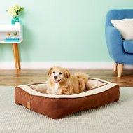 Precision Pet Products Chevron Chenille Gusset Low Bumper Pet Bed, Chocolate