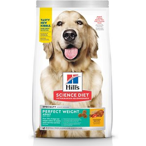 Hill's Science Diet Adult Perfect Weight Chicken Recipe Dry Dog Food, 4-lb bag
