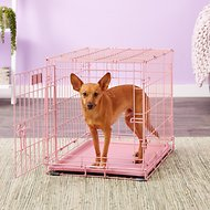 MidWest iCrate Single Door Dog Crate, Pink, 24-in