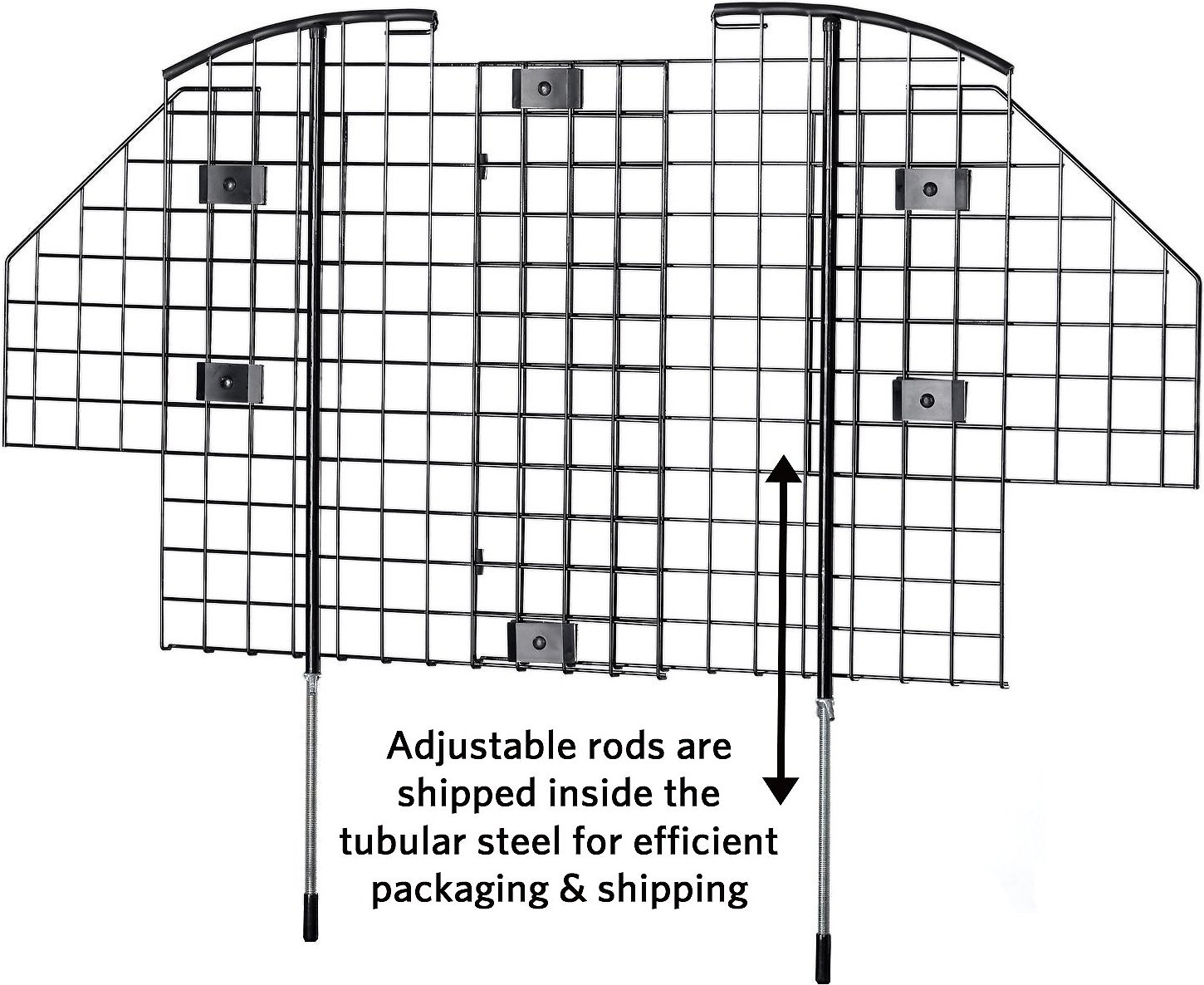 MidWest Wire Mesh Universal Car Barrier - Chewy.com