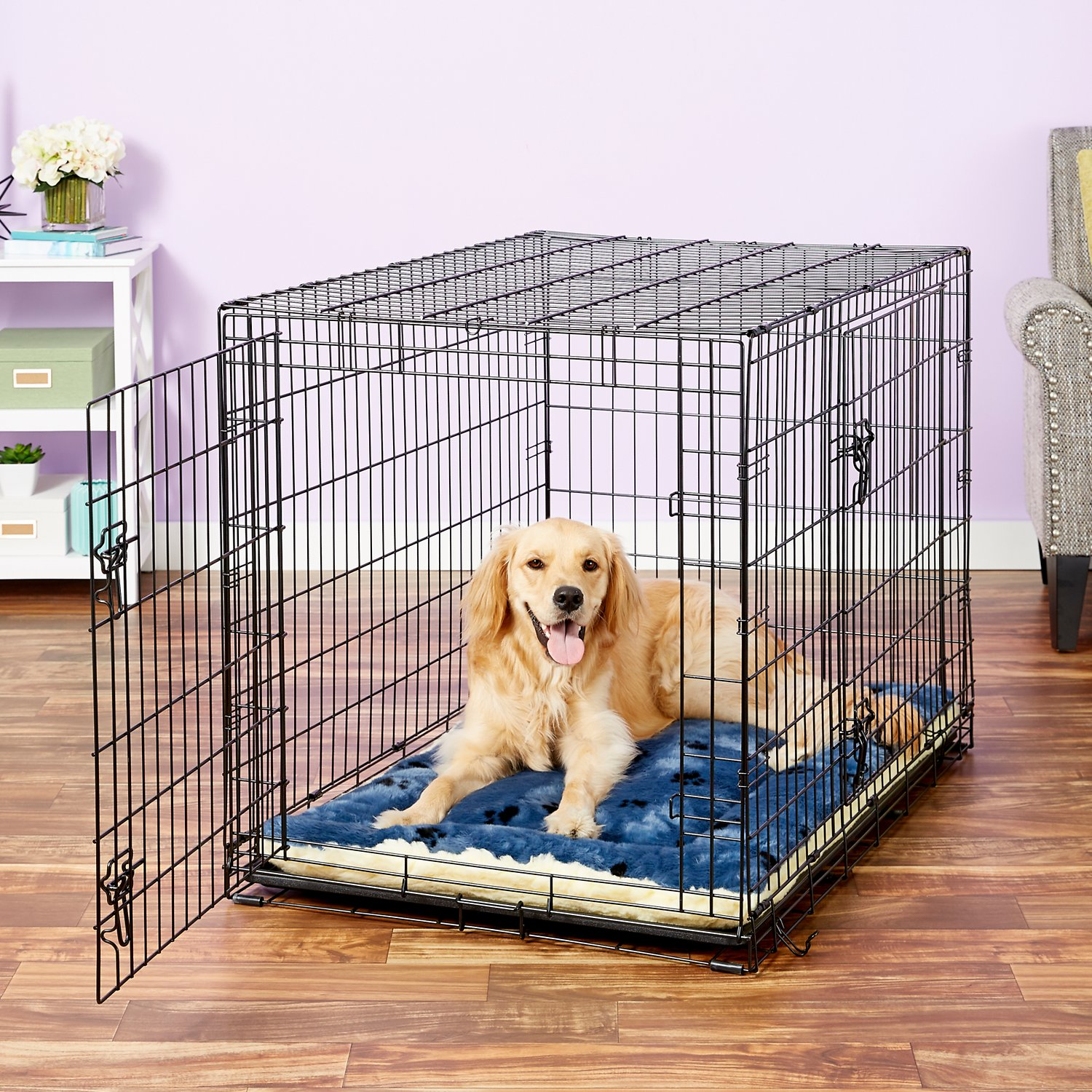 Midwest Quiet Time Fleece Reversible Pet Bed Amp Crate Mat