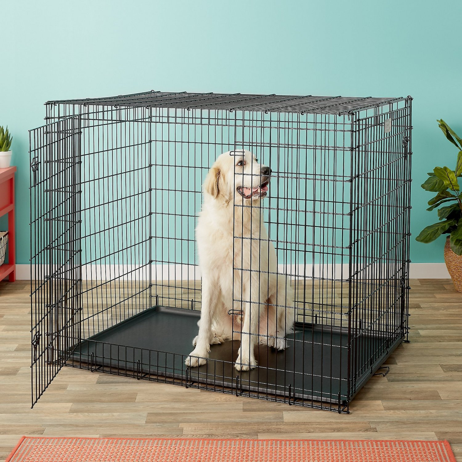 "54″ Midwest Solution Series ""Ginormus"" Double Door Dog Crate"