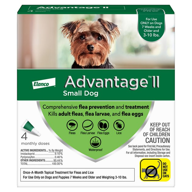 Advantage Ii Flea Treatment For Small Dogs Free Shipping Chewy
