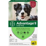 Advantage II Flea Treatment for Large Dogs, 21-55 lbs, 6 treatments
