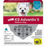 K9 Advantix II Flea, Tick & Mosquito Prevention for Medium Dogs 11-20 lbs, 4 treatments