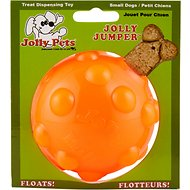 Jolly Pets Jolly Jumper Ball Dog Toy, Orange, 3-in