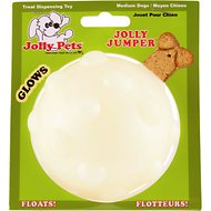 Jolly Pets Jolly Jumper Ball Dog Toy, Glow, 4-in
