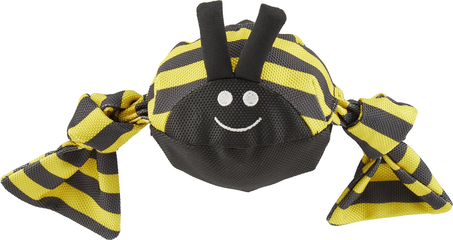 Jolly Pets Jolly Tug Insect Bumble Bee Dog Toy, Medium