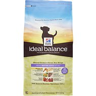 Hill's Ideal Balance Natural Chicken & Brown Rice Recipe Mature Adult Dry Dog Food, 15-lb bag