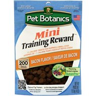 Pet Botanics Mini Training Rewards Bacon Flavor Dog Treats, 4-oz bag