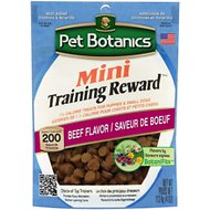 Pet Botanics Mini Training Rewards Beef Flavor Dog Treats, 4-oz bag