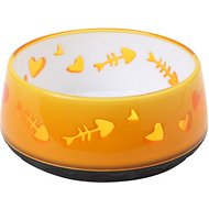 Catit Fish Bone Cat Bowl, Orange