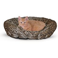 K&H Pet Products Self-Warming Nuzzle Nest Pet Bed, Leopard