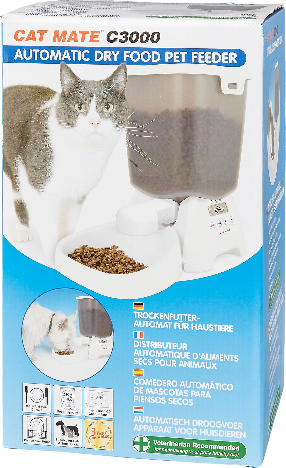 Cat Mate C3000 Programmable Dry Food Feeder Chewy Com