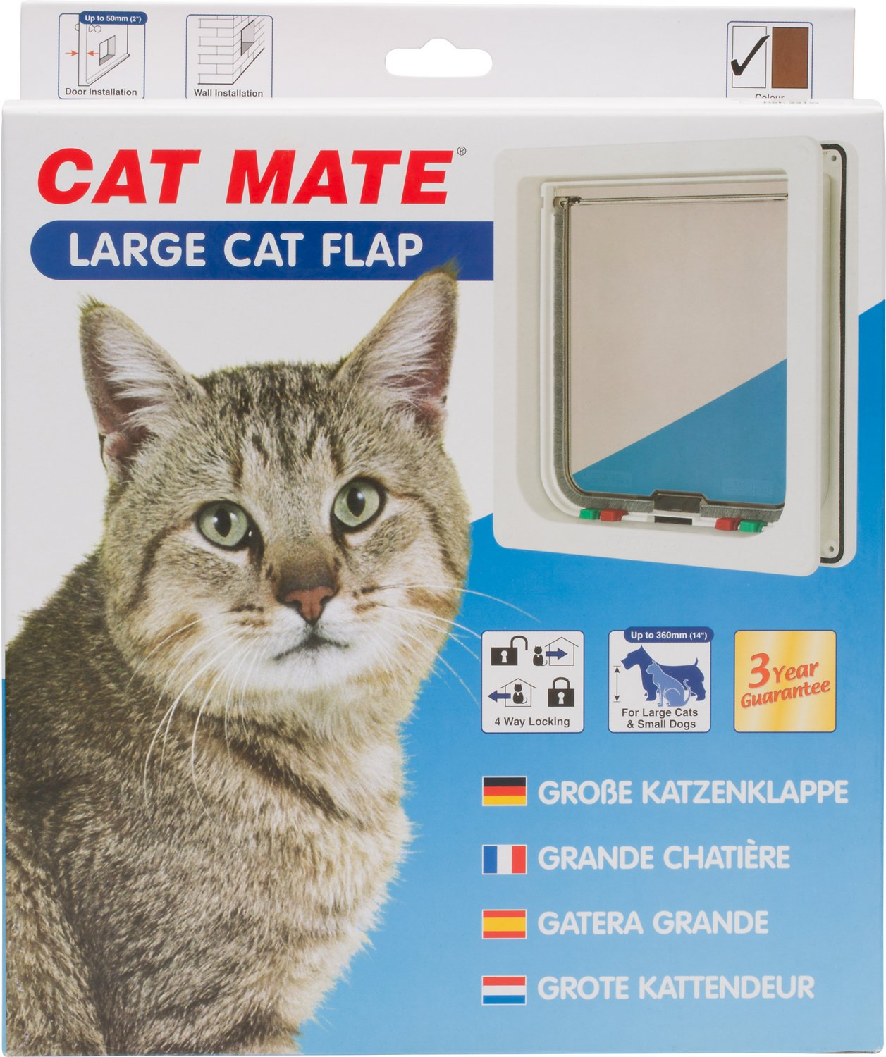 Cat Mate Large Cat Small Dog 4 Way Self Lining Door White Chewy Com