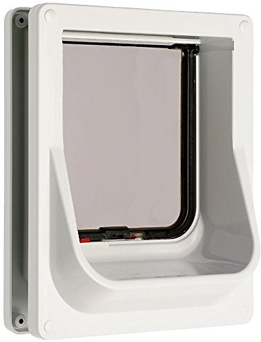 Cat Mate Electromagnetic Cat Flap White Chewy Com
