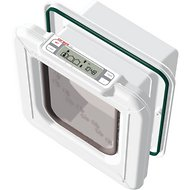 Cat Mate Elite Super Selective Microchip & I.D. Disc Cat Flap, White