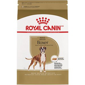 Royal Canin Boxer Adult Dry Dog Food, 30-lb bag; This Royal Canin formula is designed exclusively for pure breed Boxers over 15 months. Boxers are genetically prone to specific heart issues, and they need a formula with optimal protein and fat levels to support their active nature. That\\\'s why Royal Canin created this tailor-made formula for the Boxer\\\'s specific needs.